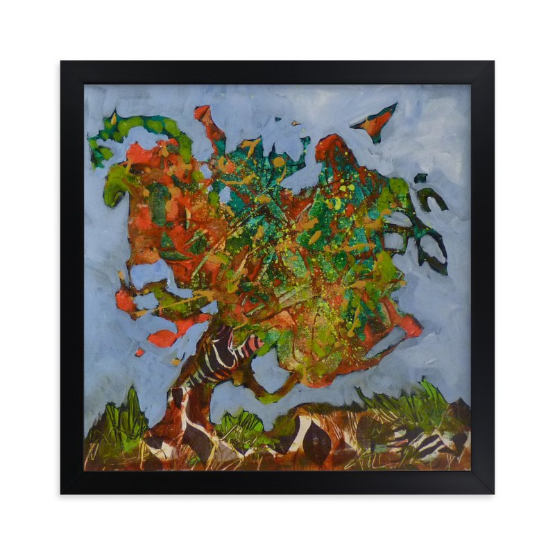 """""""Mon arbre orange"""" - Art Print by Johanne Roy in beautiful frame options and a variety of sizes."""