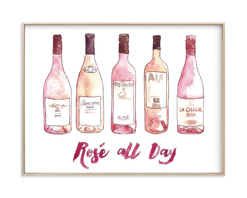 """Rose All Day"" - Art Print by Kelsey McNatt in beautiful frame options and a variety of sizes."