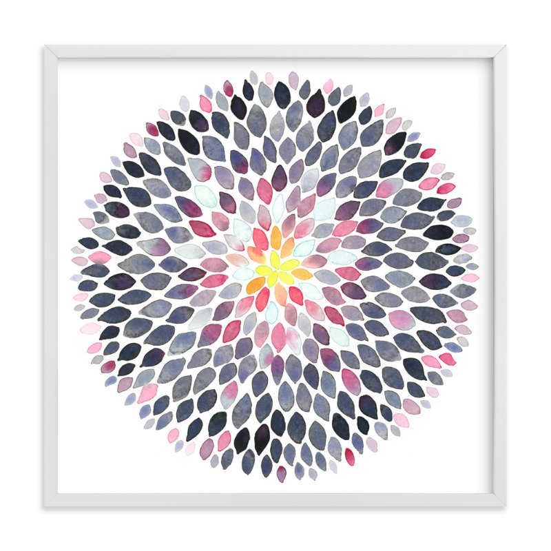 """""""Grace Dahlia"""" - Art Print by Jocelyn Edin in beautiful frame options and a variety of sizes."""