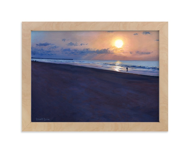 """Morning Run"" - Art Print by Robert Deem in beautiful frame options and a variety of sizes."