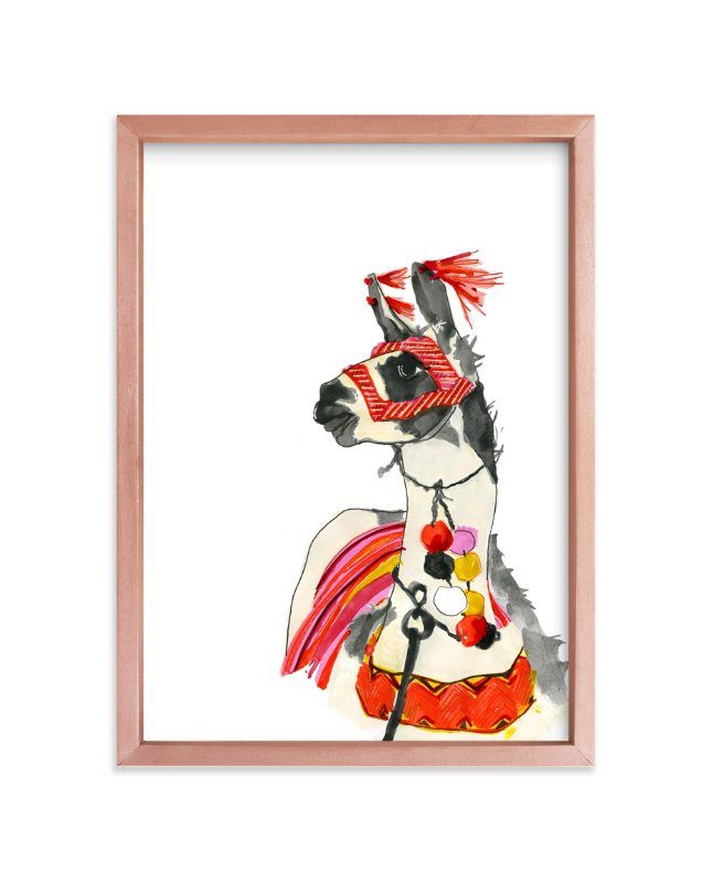 """Ramma Lamma"" - Art Print by Suzanne Blanck in beautiful frame options and a variety of sizes."