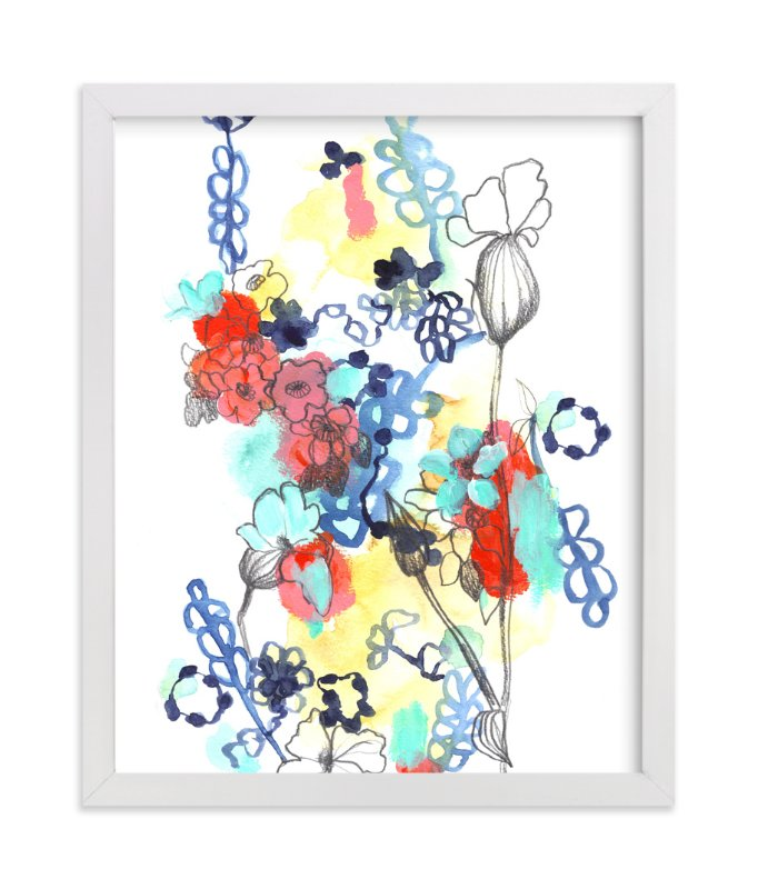 """""""Quirky Garden"""" - Art Print by Sonal Nathwani in beautiful frame options and a variety of sizes."""
