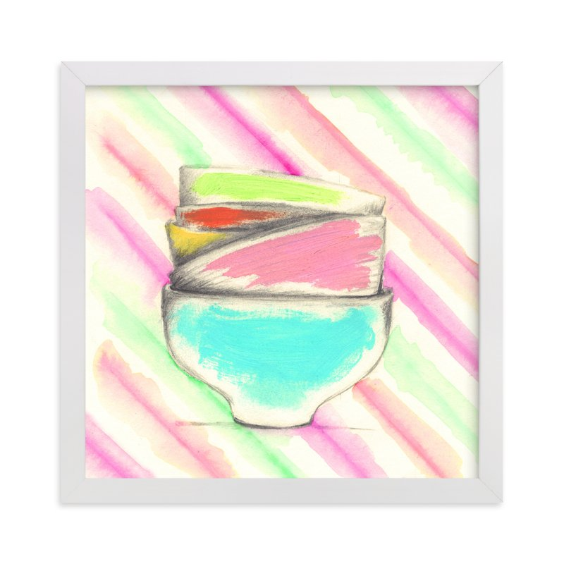 """Candy Bowls"" - Art Print by Sonal Nathwani in beautiful frame options and a variety of sizes."