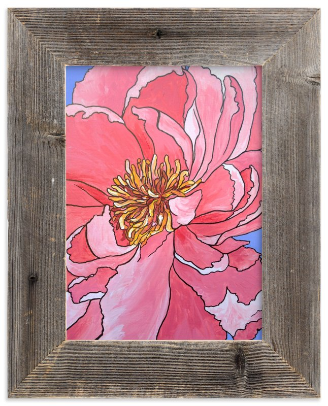 """A Single Bloom"" - Art Print by Katie Craig in beautiful frame options and a variety of sizes."
