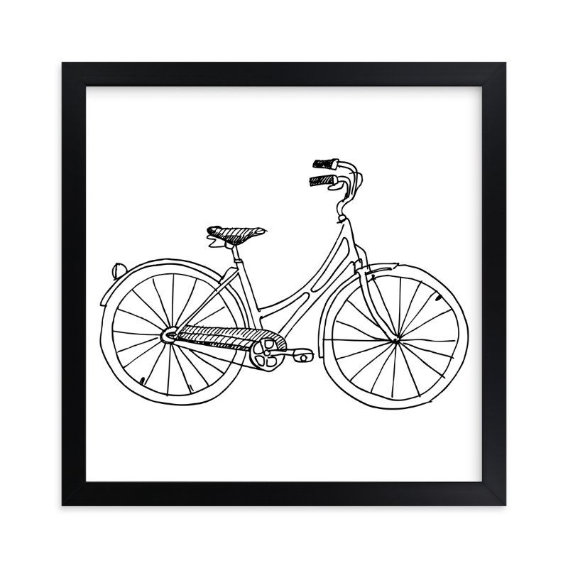 """""""bicycle"""" - Art Print by Phrosne Ras in beautiful frame options and a variety of sizes."""