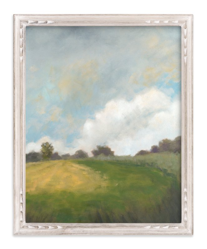 """Summer Path"" - Art Print by Stephanie Goos Johnson in beautiful frame options and a variety of sizes."
