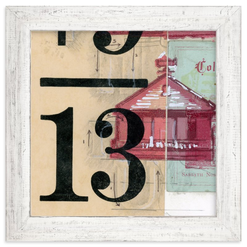 """""""Schoolhouse Rock No.1"""" - Art Print by Kelly Maron Horvath in beautiful frame options and a variety of sizes."""
