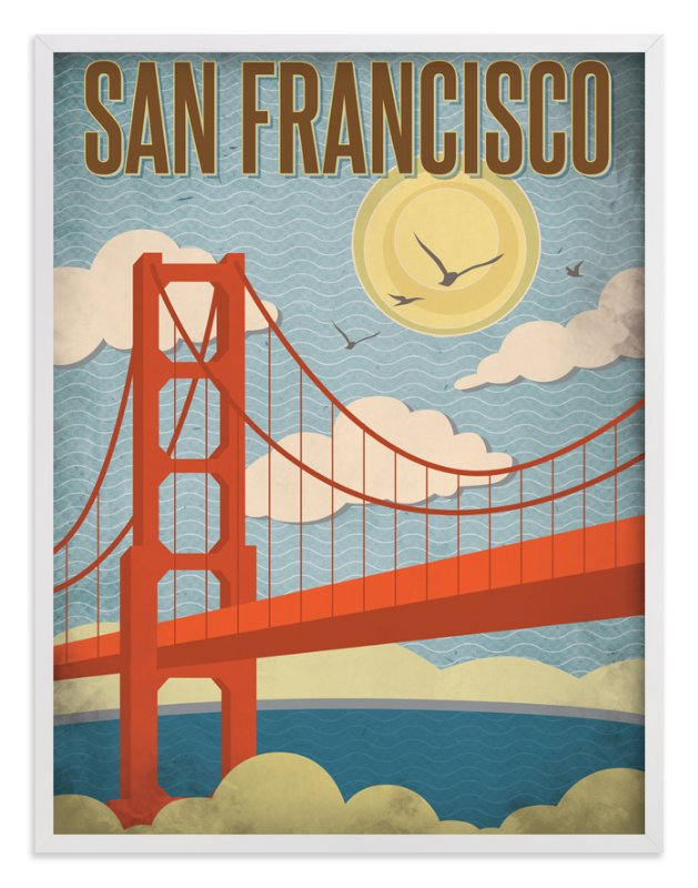 """""""San Francisco"""" - Art Print by Smudge Design in beautiful frame options and a variety of sizes."""