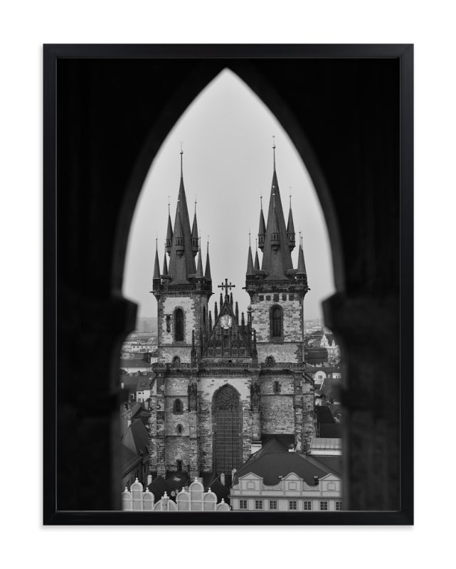 """""""Old Town Peek"""" - Art Print by Mark Kirby in beautiful frame options and a variety of sizes."""