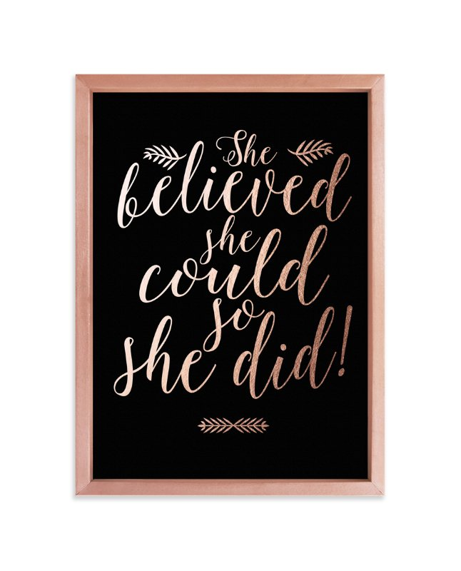 """She Did"" - Art Print by Mely D Lozano in beautiful frame options and a variety of sizes."