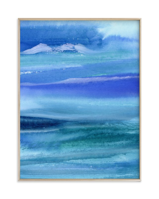 """""""Stormy Sea"""" - Art Print by Lindsay Megahed in beautiful frame options and a variety of sizes."""