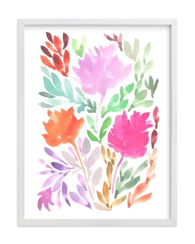 """""""hand painted flowers_1"""" - Art Print by aticnomar in beautiful frame options and a variety of sizes."""