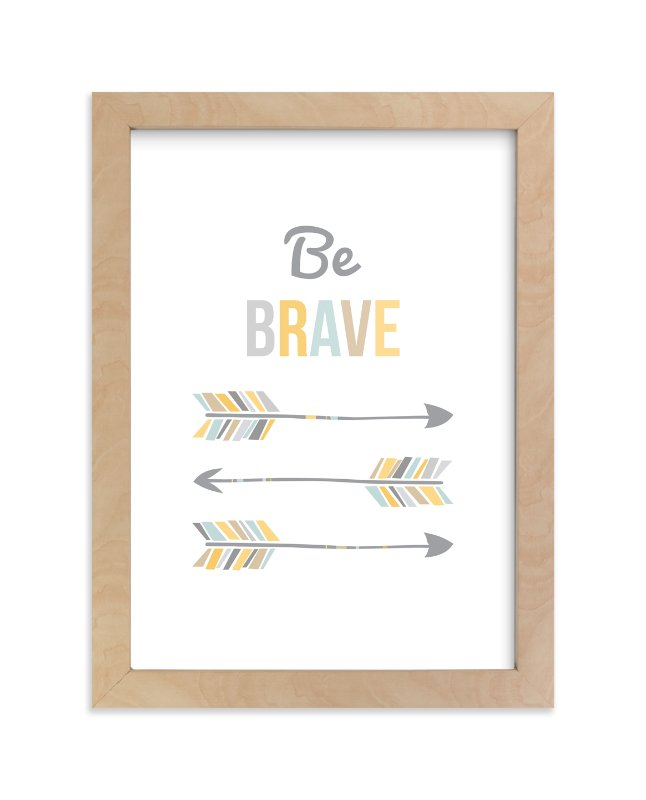 """Brave Little Arrow"" - Art Print by Kayley Miller in beautiful frame options and a variety of sizes."