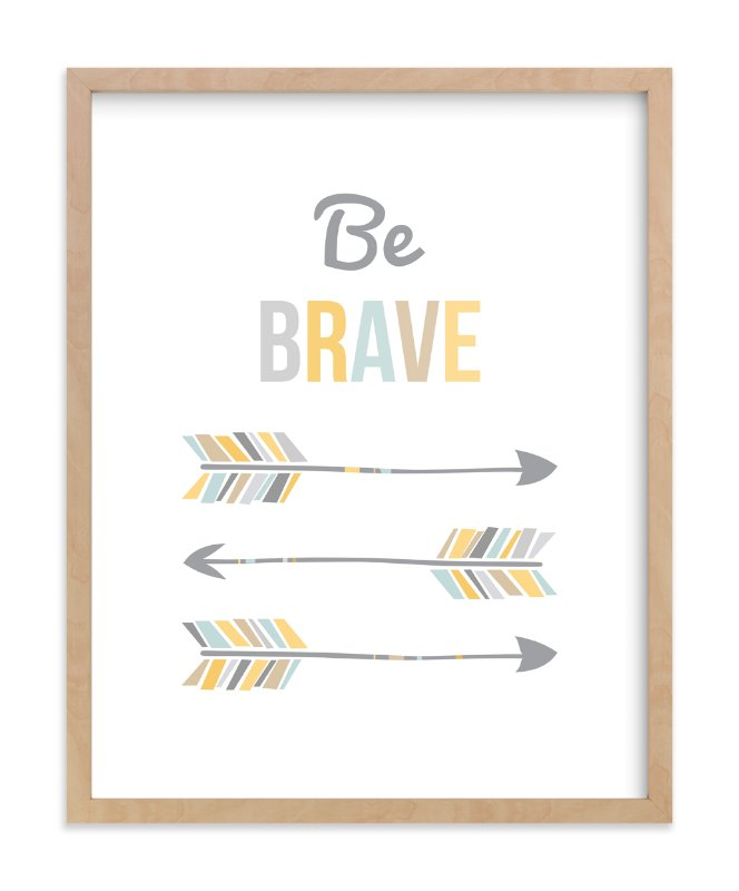 """""""Brave Little Arrow"""" - Art Print by Kayley Miller in beautiful frame options and a variety of sizes."""