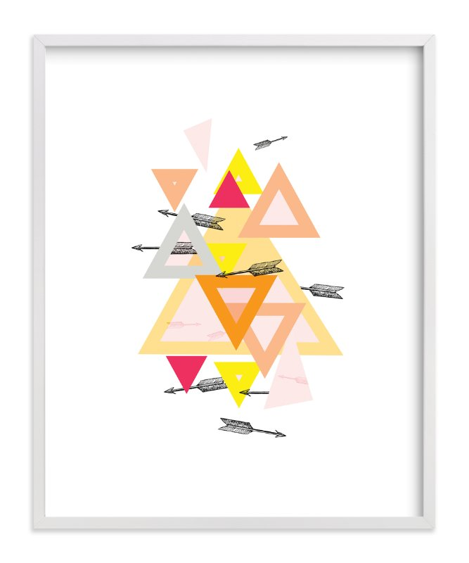 """""""Arrow Geo"""" - Art Print by Lady Noble in beautiful frame options and a variety of sizes."""
