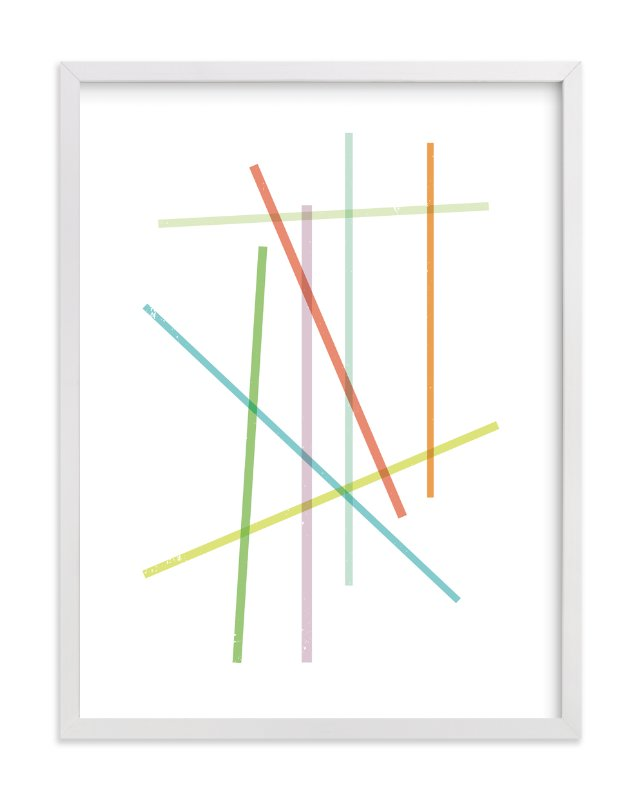 """""""Pick-Up Stix"""" - Art Print by Design Lotus in beautiful frame options and a variety of sizes."""