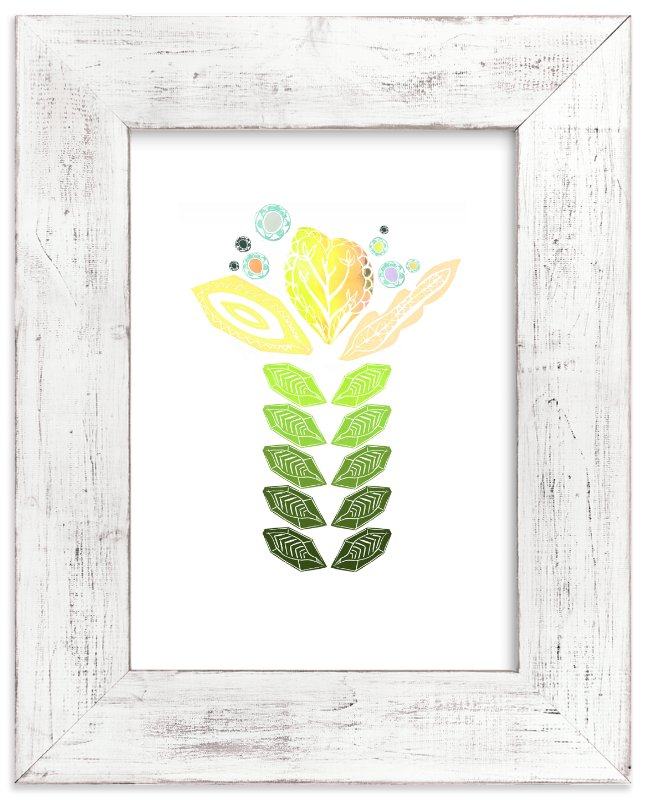 """""""Tall Flower"""" - Art Print by Debra Bianculli in beautiful frame options and a variety of sizes."""