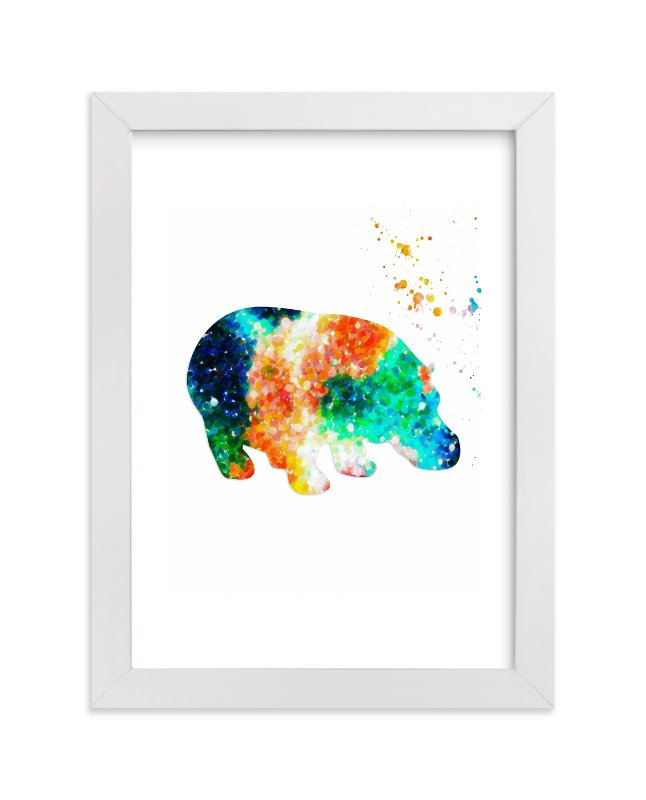 Happy Happy Hippo Wall Art Prints by Alex Isaacs Designs | Minted