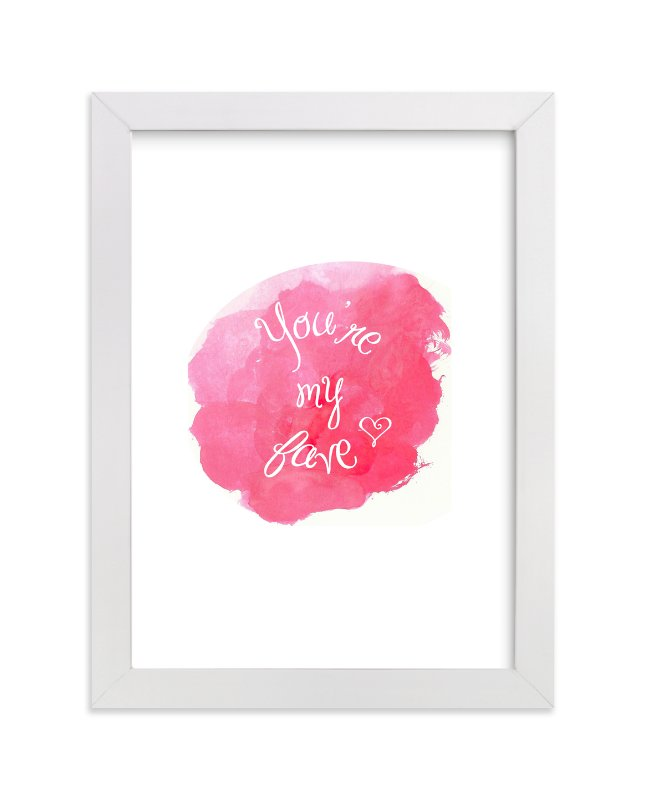 """You're My Fave Watercolor"" - Art Print by Rebecca Lowe in beautiful frame options and a variety of sizes."