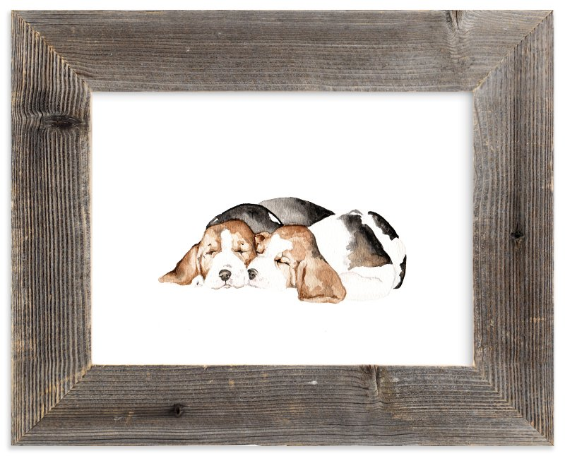 Sleepy Watercolor Puppies  - Art Print by Lauren Rogoff in beautiful frame options and. Framed  sc 1 st  Minted & Sleepy Watercolor Puppies Wall Art Prints by Lauren Rogoff | Minted