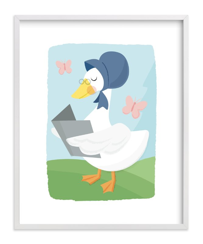 """""""Mother Goose"""" - Art Print by Jessie Steury in beautiful frame options and a variety of sizes."""