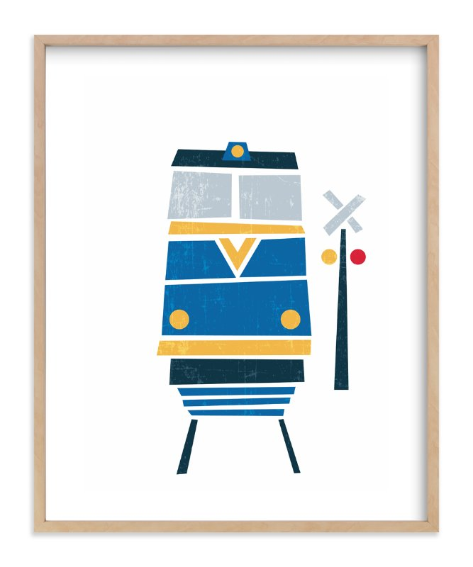 """""""Stacked Train"""" - Art Print by Jennifer Morehead in beautiful frame options and a variety of sizes."""