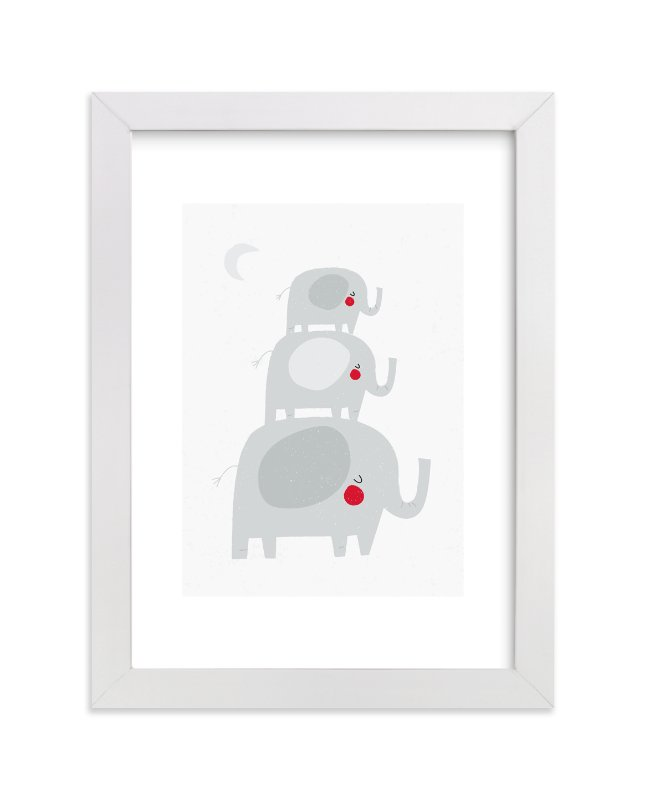 """Elephant Stack"" - Art Print by Angela Thompson in beautiful frame options and a variety of sizes."