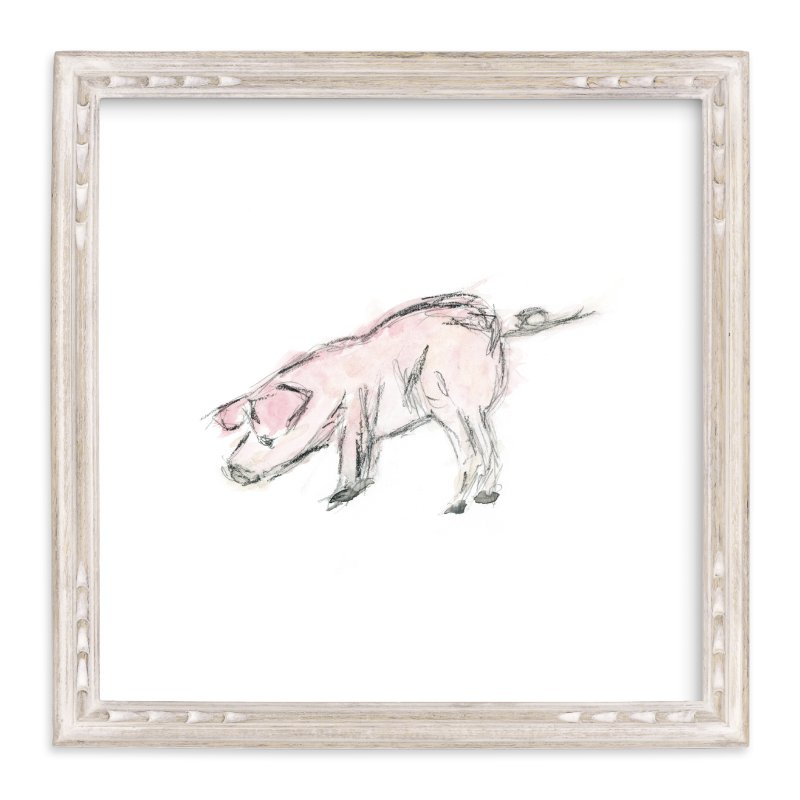 """""""This Little Piggie"""" - Art Print by Mande in beautiful frame options and a variety of sizes."""