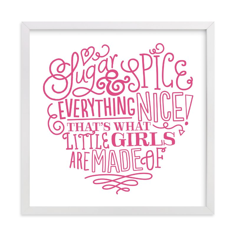"""""""Everything Nice"""" - Art Print by Jessie Steury in beautiful frame options and a variety of sizes."""