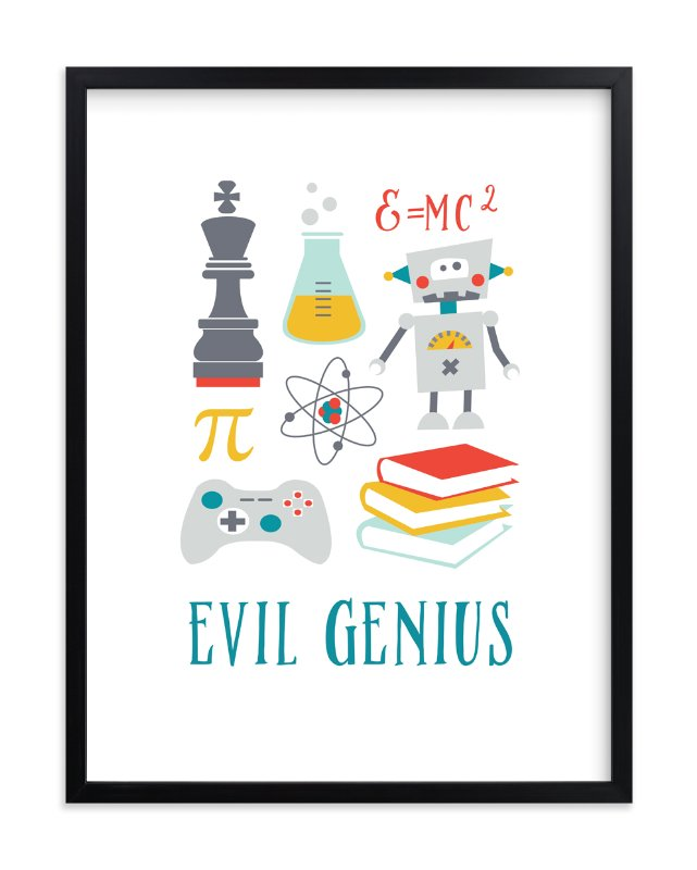 """Evil Genius"" - Art Print by Katie Zimpel in beautiful frame options and a variety of sizes."