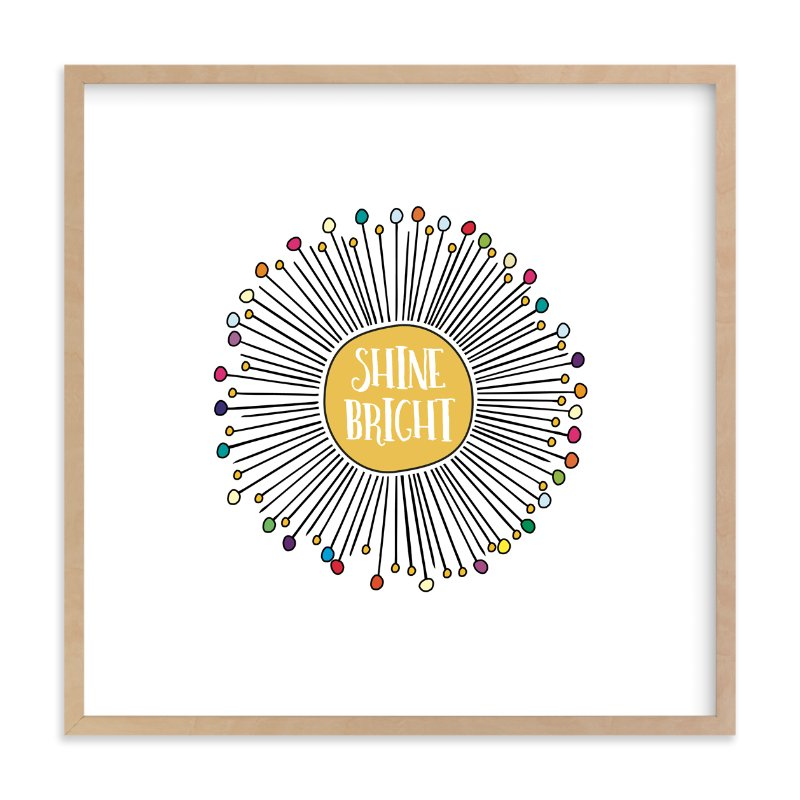 """""""Shine Bright Sunburst"""" - Art Print by Kate Ross in beautiful frame options and a variety of sizes."""