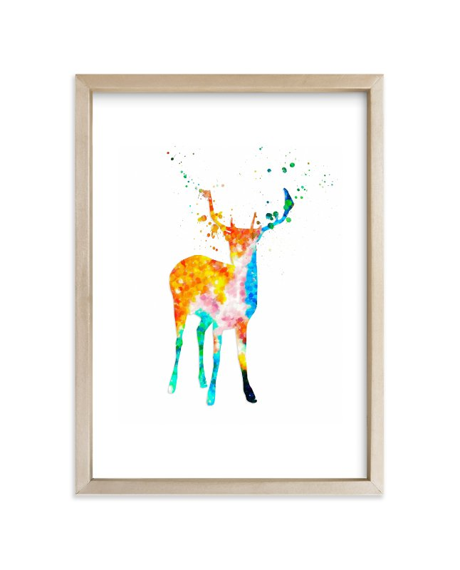 """""""Oh, My Deer..."""" - Art Print by Alex Isaacs Designs in beautiful frame options and a variety of sizes."""