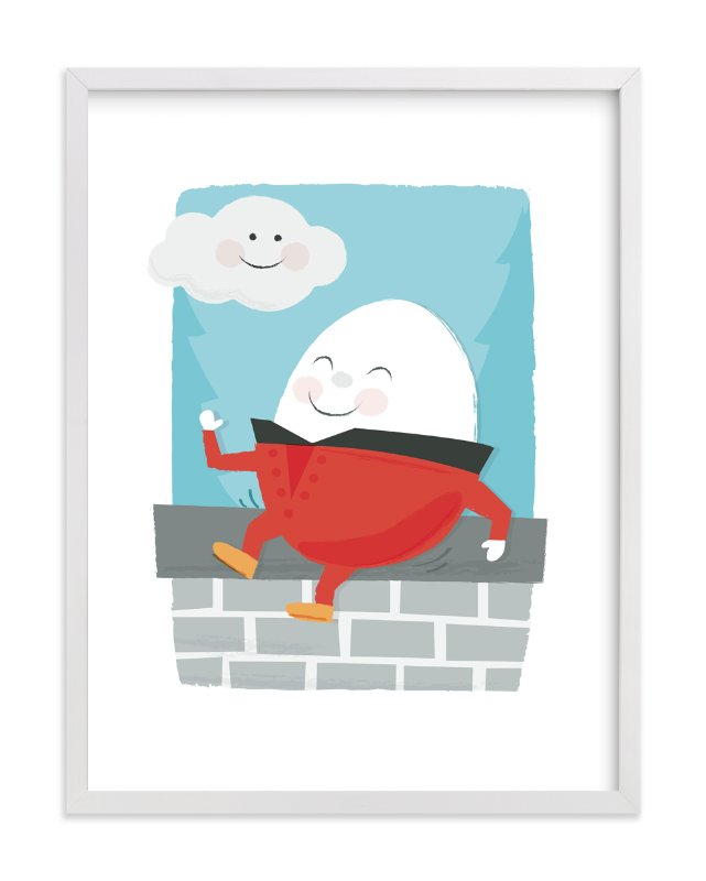"""""""Humpty Dumpty"""" - Art Print by Jessie Steury in beautiful frame options and a variety of sizes."""