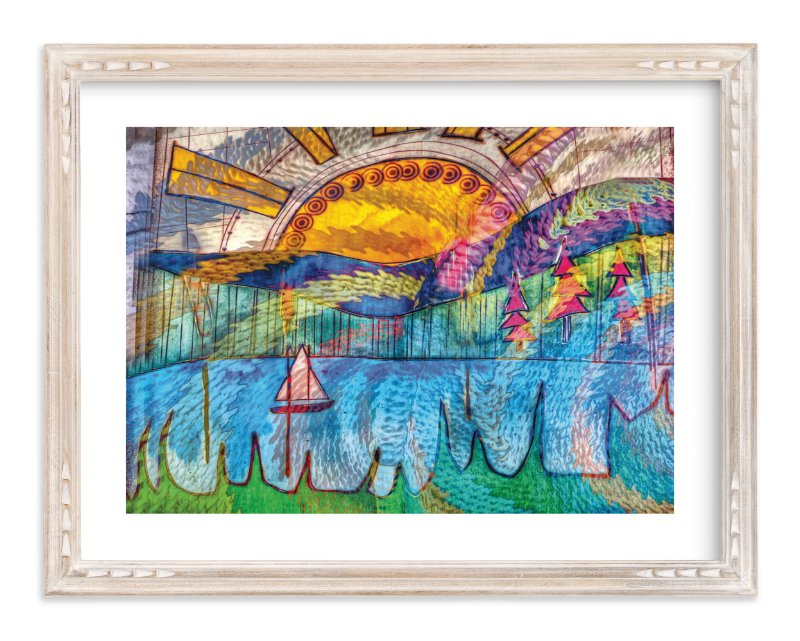 """Sail Away NW Art Print"" - Art Print by Mazing Designs in beautiful frame options and a variety of sizes."