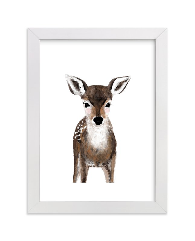 """Baby Animal Deer"" - Art Print by Cass Loh in beautiful frame options and a variety of sizes."