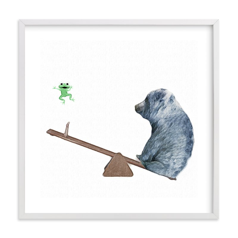 """""""See me go wee wee!"""" - Art Print by Maja Cunningham in beautiful frame options and a variety of sizes."""