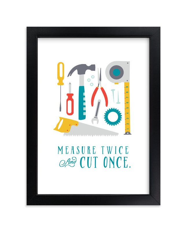 """Tool Box"" - Art Print by Katie Zimpel in beautiful frame options and a variety of sizes."