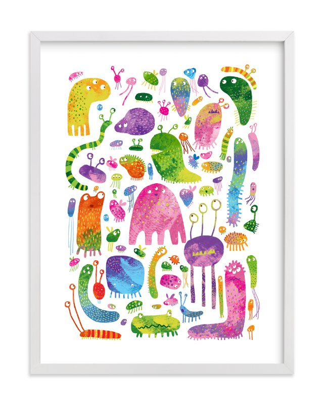 """""""Meet the Monsters"""" - Art Print by Evelline Andrya in beautiful frame options and a variety of sizes."""