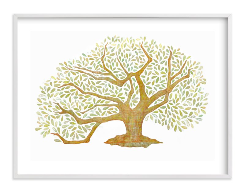 """""""Tree of Life, Audubon Park, New Orleans"""" - Art Print by Amelie Conger in beautiful frame options and a variety of sizes."""