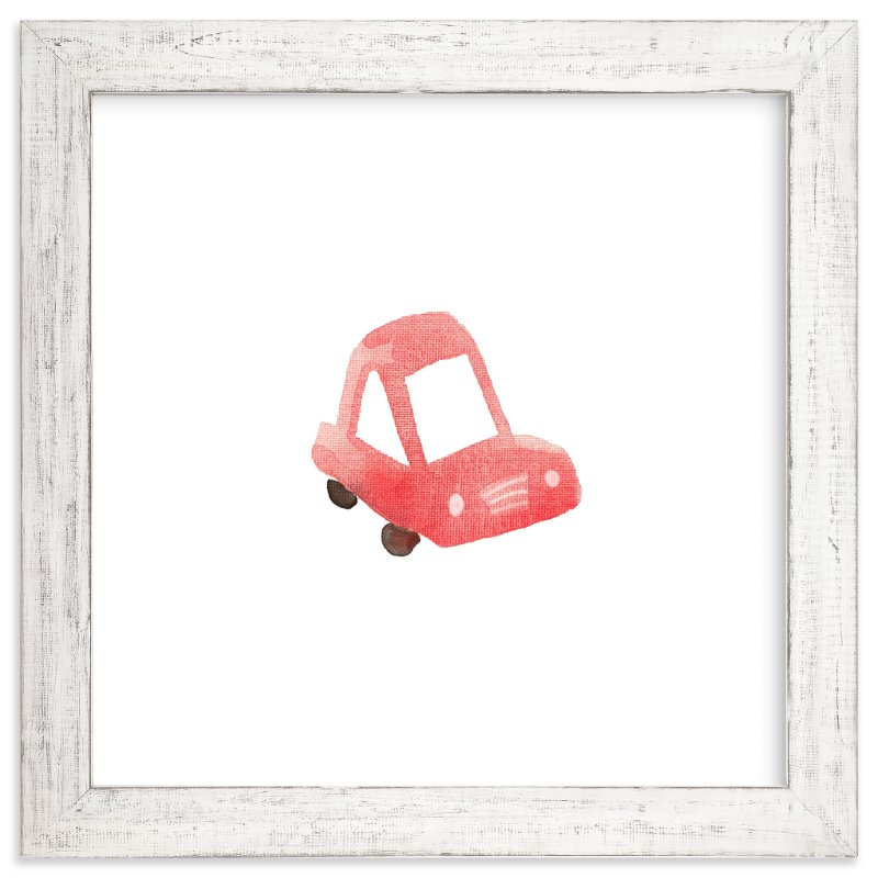 """Red Car Art"" - Art Print by Jan Dolby in beautiful frame options and a variety of sizes."