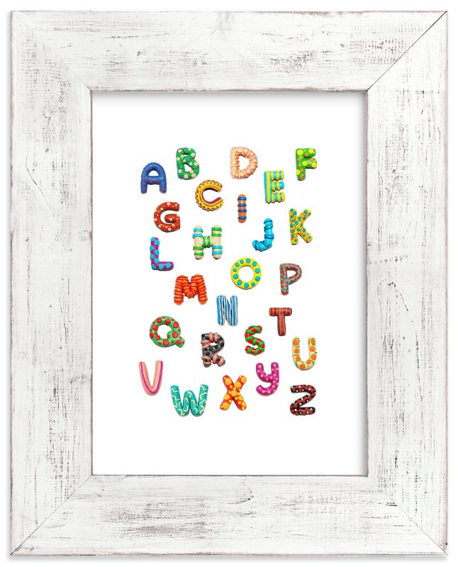 """""""Lovely ABC"""" - Art Print by Alexandra Dzh in beautiful frame options and a variety of sizes."""