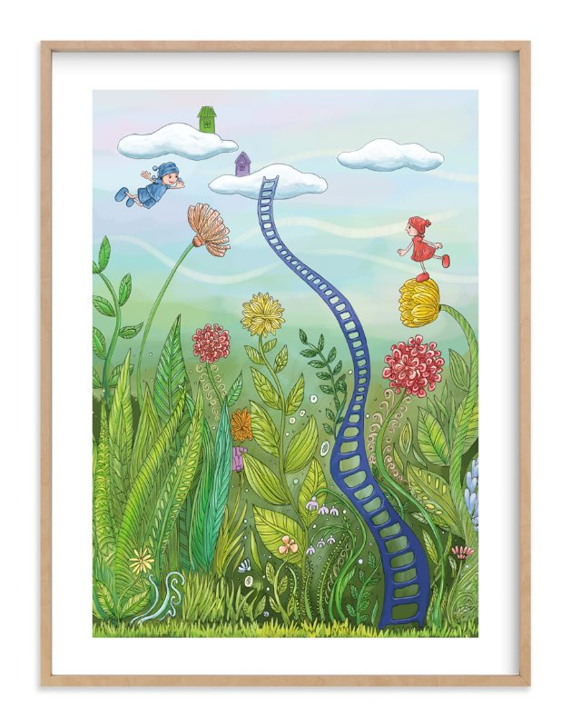 """""""Redy and Bluey - Flying Free"""" - Art Print by Helen H Wu in beautiful frame options and a variety of sizes."""