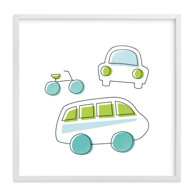 """Drive It"" - Art Print by Jessie Steury in beautiful frame options and a variety of sizes."