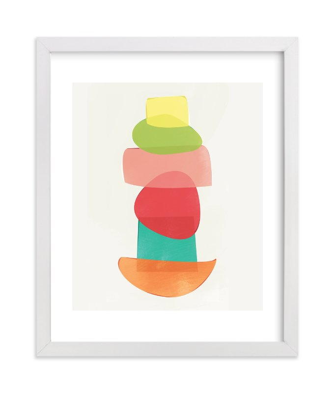 """Shape Stack"" - Art Print by Red Impressionz in beautiful frame options and a variety of sizes."