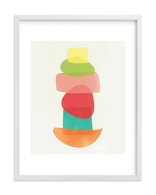 """""""Shape Stack"""" - Art Print by Red Impressionz in beautiful frame options and a variety of sizes."""