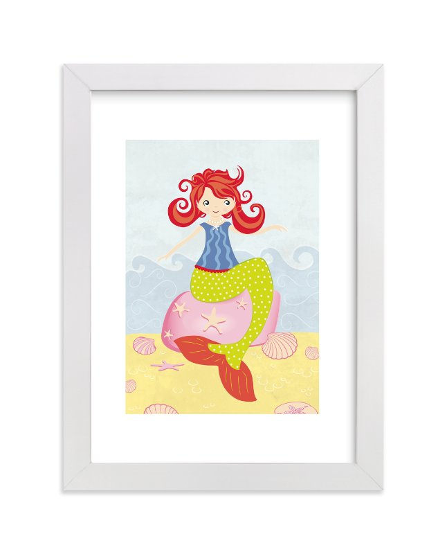 """Mermaid"" - Art Print by Stellax Creative in beautiful frame options and a variety of sizes."