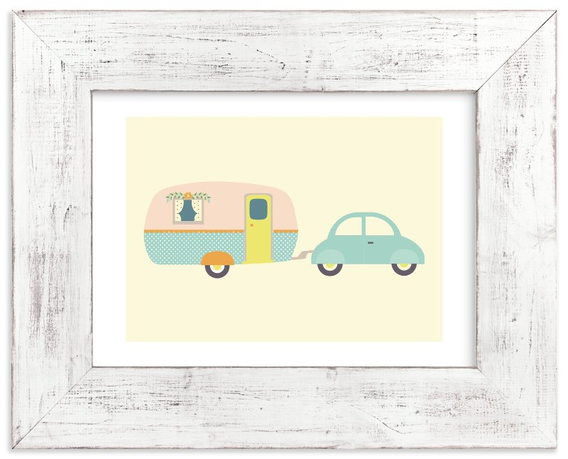 """""""Vintage Camper"""" - Art Print by Anne Holmquist in beautiful frame options and a variety of sizes."""