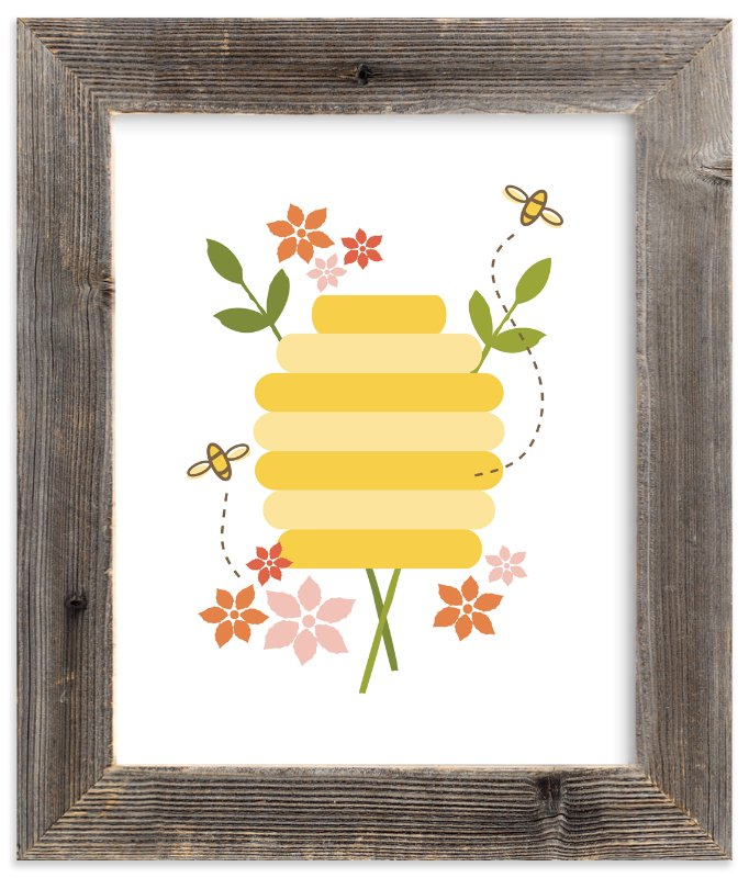 """""""Buzzing Beehive"""" - Art Print by Katie Wahn in beautiful frame options and a variety of sizes."""