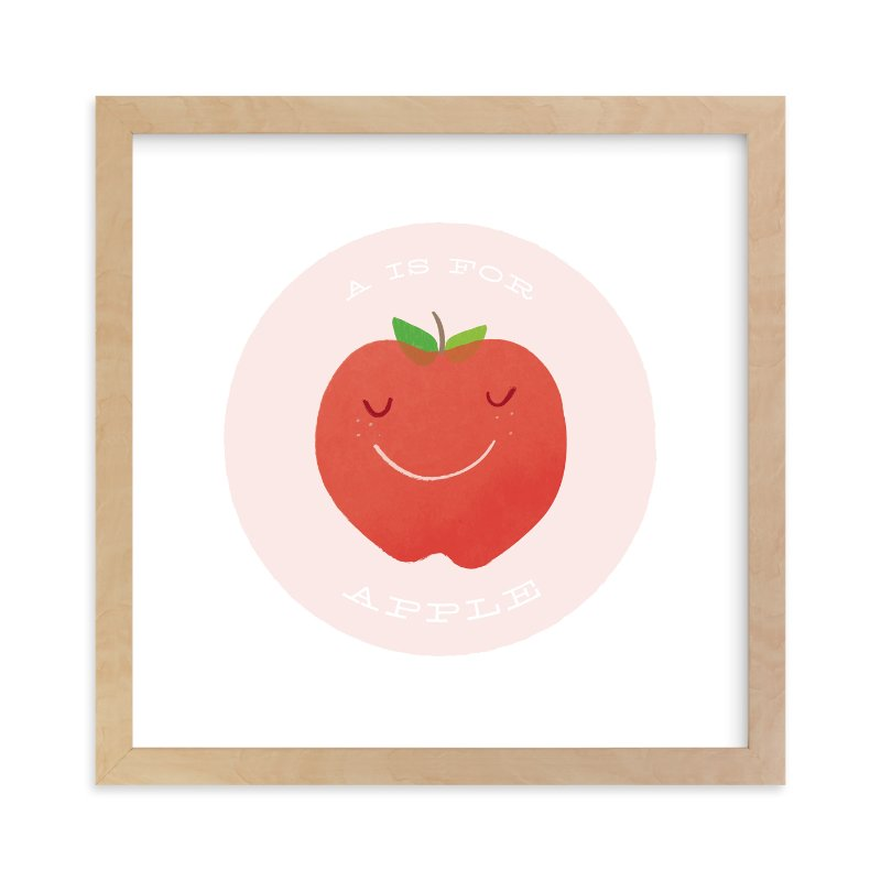 A is for Apple Wall Art Prints by Lacie Cunningham | Minted