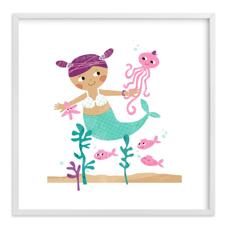 """""""Princess of The Sea"""" - Art Print by LeezaWorks in beautiful frame options and a variety of sizes."""